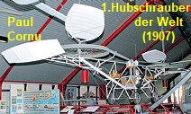 Paul Cornu: Nachbau des ersten Hubschraubers der Welt in Originalgröße