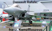Dassault Rafale: modernstes französisches Mehrzweckkampfflugzeug von 1998