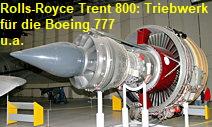 Rolls-Royce Trent 800: Strahltirebwerk