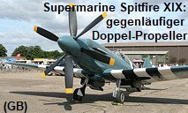 Supermarine Spitfire XIX: 1-sitziger Abfangjäger mit gegenläufigem Doppel-Propeller