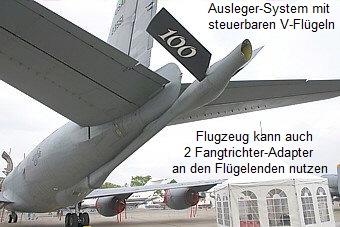 weniger turbulenzen in größeren flugzeugen
