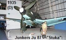 """Junkers JU-87 Stuka: markant abgeknickte Flügel - mit """"Jericho-Trompete"""""""