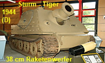Sturm - Tiger: deutscher 38cm-Raketenwerfer von 1944