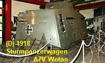 """A7V Wotan - Sturmpanzerwagen: Reaktion auf den ersten britischen """"Tank-Einsatz"""""""